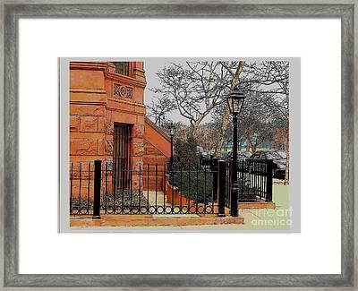 Harlem Corner Framed Print by Rudy Collins