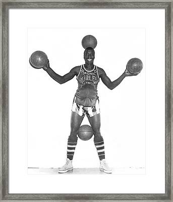 Harlem Globetrotters Player Framed Print
