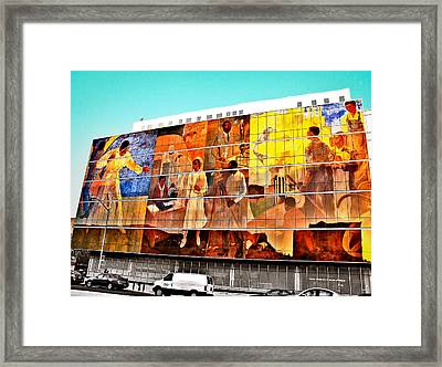 Harlem Hospital Mural Framed Print by Terry Wallace