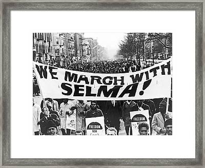 Harlem Supports Selma Framed Print