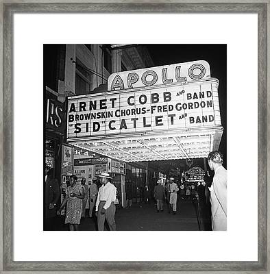 Harlem's Apollo Theater Framed Print by Underwood Archives Gottlieb