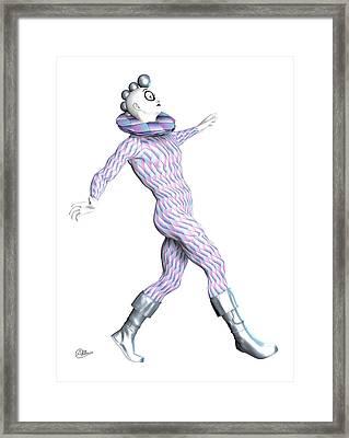 Harlequin Snooty Framed Print