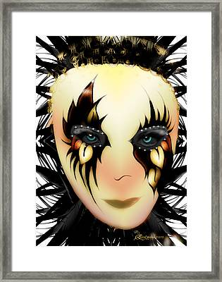 Harlequin Face Mask Framed Print by EricaMaxine  Price