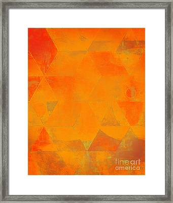 Harlequin Orange Peel Framed Print by Lonnie Christopher
