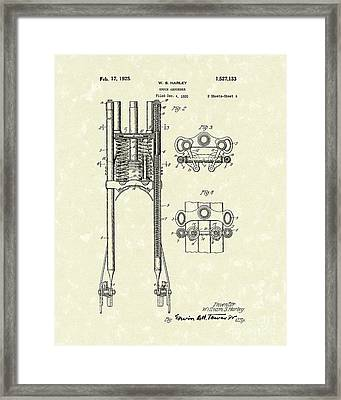Harley Absorber 1925 Patent Art Framed Print by Prior Art Design