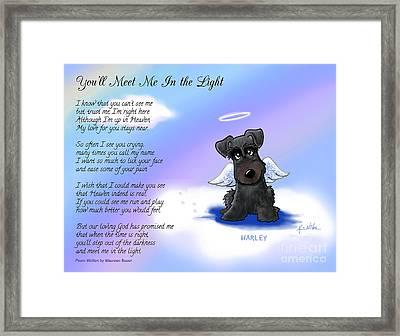 Harley Angel With Poem Framed Print by Kim Niles