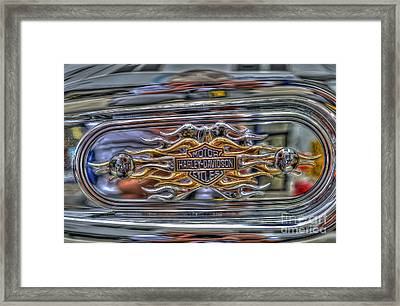 Harley Badge Framed Print