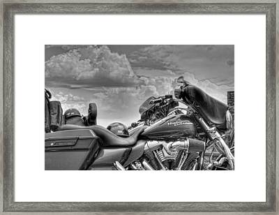 Harley Black And White Framed Print by Ron White
