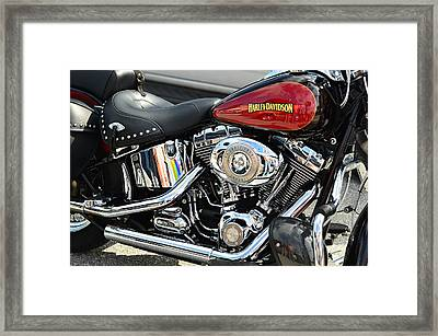 Harley Chrome Framed Print by Laura Fasulo