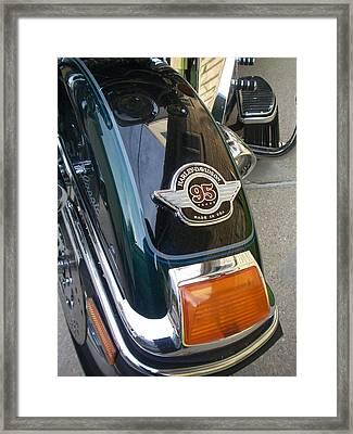 Harley Close-up Tail Light Framed Print by Anita Burgermeister