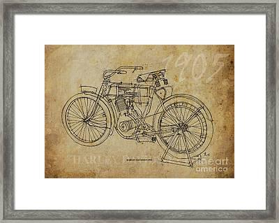 Harley Davidson 1905 Framed Print by Pablo Franchi