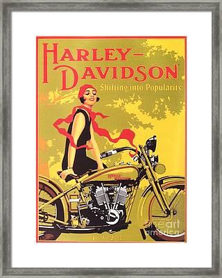 Harley Davidson 1927 Poster Framed Print