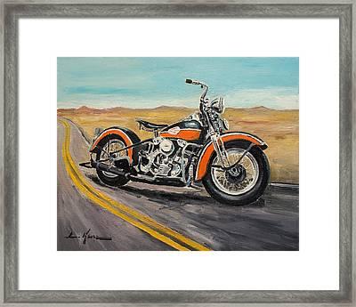 Harley Davidson 1946 Framed Print