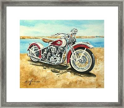 Harley Davidson 1960 Framed Print