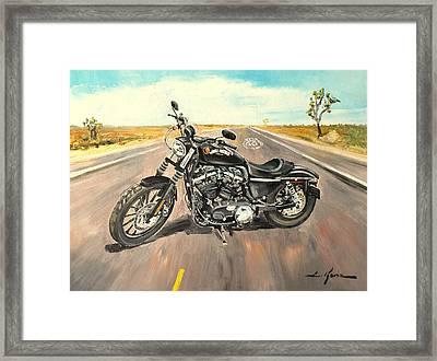 Harley Davidson 883 Sportster Framed Print