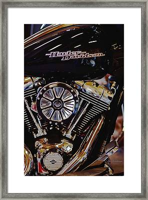 Harley Davidson Abstract Framed Print