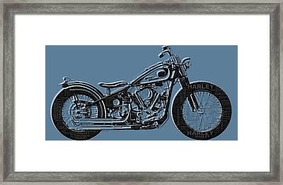 Harley-davidson And Words Framed Print by Tony Rubino