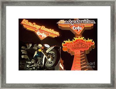 Harley Davidson Cafe Framed Print by Bob Christopher