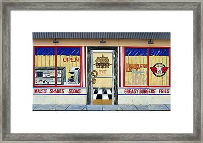 Harley Davidson Cafe Framed Print