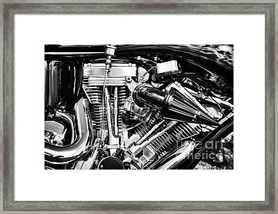 Harley Davidson Chrome Engine Framed Print by Tim Gainey
