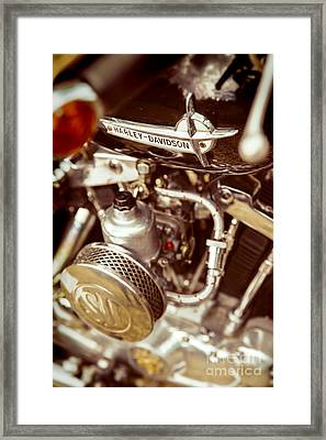 Framed Print featuring the photograph Harley Davidson Closeup by Carsten Reisinger