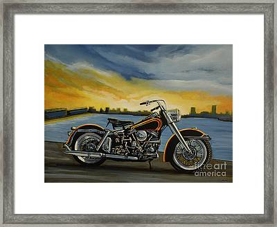 Harley Davidson Duo Glide Framed Print by Paul Meijering