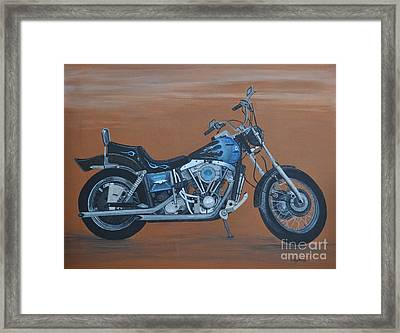 Harley Davidson Dyna Framed Print by Sally Rice