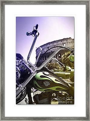 Harley Davidson Event Framed Print by Stefano Senise