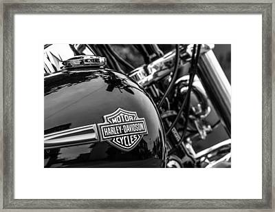 Framed Print featuring the photograph Harley Davidson. by Gary Gillette