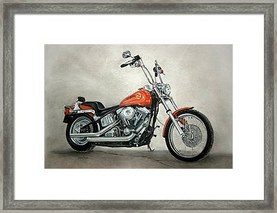 Harley Davidson Framed Print by Heather Gessell