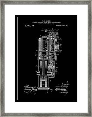 Harley Davidson Internal Combustion Engine Framed Print by Dan Sproul