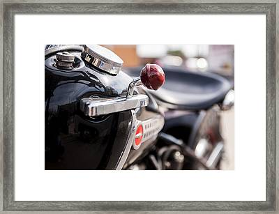Harley Davidson Jockey Shift Framed Print
