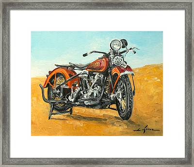 Harley Davidson Knucklehead Framed Print