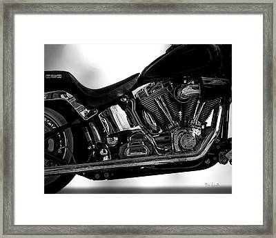 Harley Davidson  Military  Framed Print by Bob Orsillo