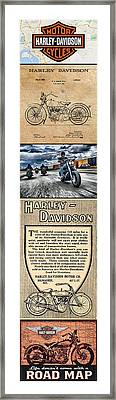 Harley-davidson Montage Framed Print by Photographic Art by Russel Ray Photos