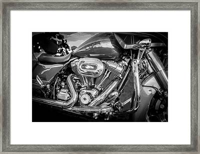 Harley Davidson Motorcycle Harley Bike Bw  Framed Print