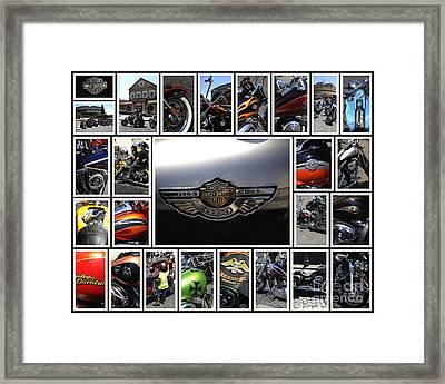 Harley Davidson Motorcycles Framed Print by Stefano Senise