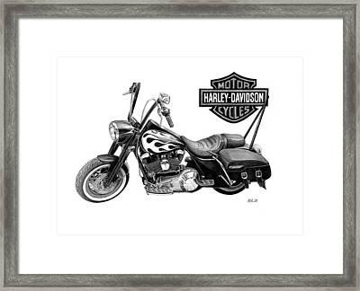 Harley Davidson Framed Print by Nick Naethuijs