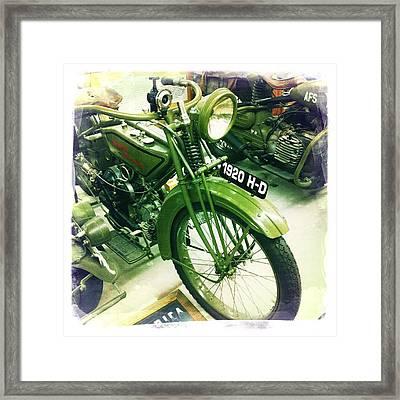 Harley Davidson Framed Print by Nina Prommer