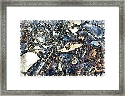 Harley Davidson Painted Framed Print