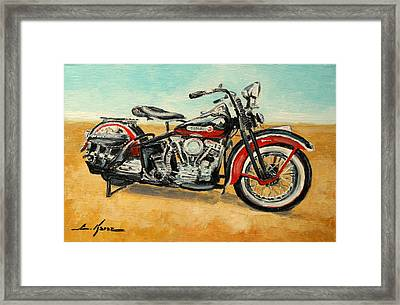 Harley Davidson Panhead Framed Print