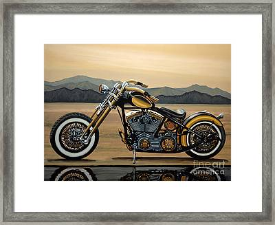 Harley Davidson Framed Print by Paul Meijering