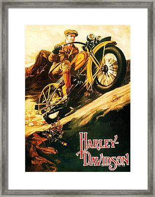 Harley Davidson Framed Print by Pg Reproductions