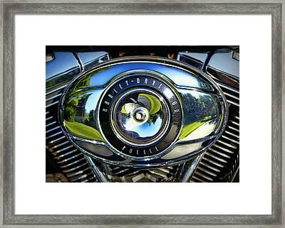 Harley-davidson Police Framed Print by Cricket Hackmann