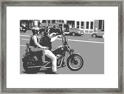 Harley Davidson Poster Framed Print by Dan Sproul