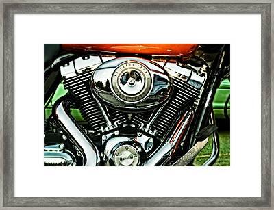 Harley-davidson Road Glide Touring Bike Framed Print