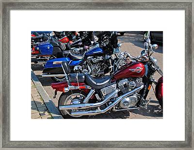 Harley Davidson Framed Print by Frozen in Time Fine Art Photography