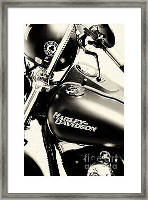 Harley Davidson Sepia Framed Print by Tim Gainey