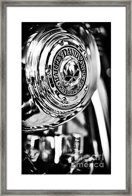 Harley Davidson Skull Casing Framed Print by Tim Gainey