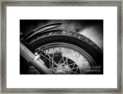 Framed Print featuring the photograph Harley Davidson Tire by Carsten Reisinger